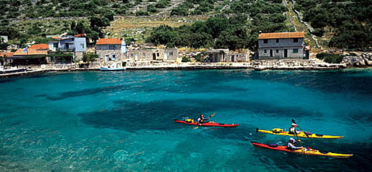 Kayaking adventure in Croatia